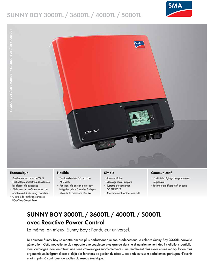 inverter sma sunny boy sb 3000 tl 21 powerline solartechnik. Black Bedroom Furniture Sets. Home Design Ideas